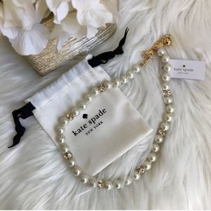 NEW Kate Spade pearl diamond necklace